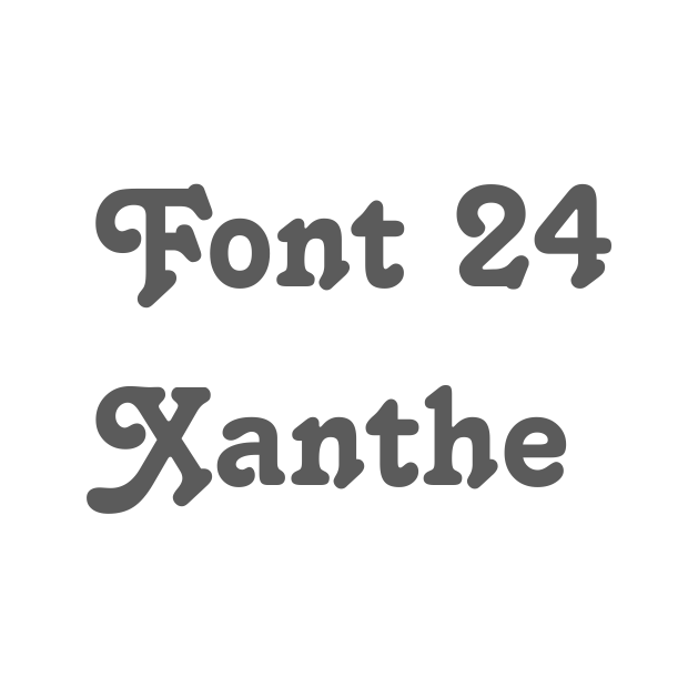 24. Xanthe